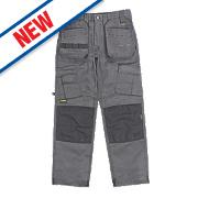 """DeWalt Pro Tradesman Work Trousers Grey / Black 32"""" W 31"""" L"""