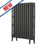 Arroll Neo Classic 4-Column Cast Iron Radiator Pewter 760 x 754mm