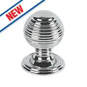 Fingertip Design Queen Anne Cabinet Door Knob Polished Chrome 28mm