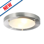 Spa Canis Bathroom Ceiling Light Stainless Steel G9 28W
