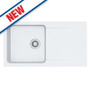 Franke Orion Inset Tectonite Kitchen Sink White 1 Bowl Reversible 940 x 510
