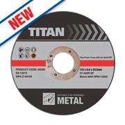 Titan Metal Grinding Discs 115 x 6 x 22.2mm Bore Pack of 3