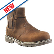 Site Mudguard Dealer Safety Boots Brown Size 8