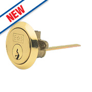 Eurospec 5-Pin Keyed Alike Standard Rim Cylinder Polished Brass 45mm
