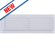 Map Vent Louvre Vent with Flyscreen White 76 x 229mm