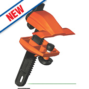 Skipper XS Retractable Barrier Clamp Holder / Receiver Black/Orange