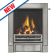 Focal Point Soho Full Depth Finger Slide Gas Fire Chrome Inset 6.8kW