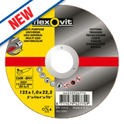 Flexovit Multipurpose Cutting Discs 125 x 1 x 22.23mm Bore Pack of 5