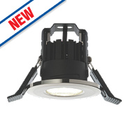 LAP Fire Rated Fixed Recessed LED Downlight IP65 Brushed Chrome 4.5W