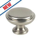 Fingertip Design Shaker Cabinet Door Knob Satin Nickel 35mm