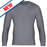 "Workforce WFU2600 Long Sleeve Thermal T-Shirt Baselayer Grey Medium 33-35"""