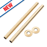 Arroll Pipe Shroud Kit Antique Brass 300 x 18mm