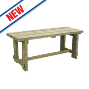 Forest Refectory Garden Table 1800 x 700 x 750mm