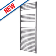 Flomasta Curved Electric Towel Radiator Chrome 1500 x 600mm 519W 1771Btu