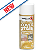 Zinsser Cover Stain Spray White 400ml