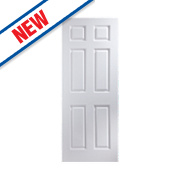 Jeld-Wen Bostonian 6-Panel Interior Door White 2032 x 813mm