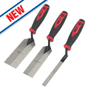 Forge Steel Edging Trowel Set 3 Pieces