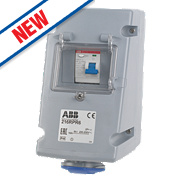 ABB Socket 16A 2P+E 250V IP44 w/ 25A RCD