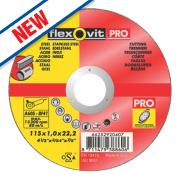 Flexovit Metal Cutting Discs 115 x 1 x 22.23mm Bore Pack of 5