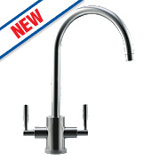 Franke Olympus Dual Lever Monobloc Mixer Kitchen Tap Brushed Steel