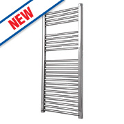 Flomasta Flat Towel Radiator Chrome 1100 x 600mm 385W 1314Btu