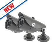 Yale AC-105G-2 CMOS CCTV Bullet Cameras Pack of 2