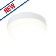 Saxby Neptune LED Microwave Sensor Emergency Bulkhead Natural White 19W