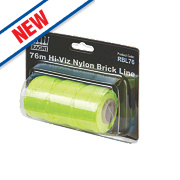 Ragni Hi-Vis Nylon Brick Line Yellow 76m