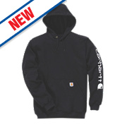 "Carhartt Hooded Sweatshirt Black Large 42-44"" Chest"