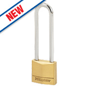 Master Lock Brass Long Shackle Padlock 30mm