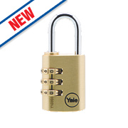 Yale Brass 3-Dial Combination Padlock 32mm