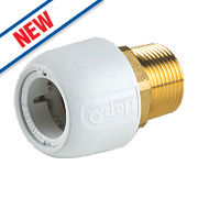 "Hep2O HX29/22WS Adapt Brass Male Socket ¾"" x 22mm"