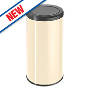 Hailo Big Bin Touch Household Waste Bin Cream 45Ltr