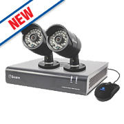 Swann SWDVK-444002 4-Channel 960H CCTV Digital Video Recorder w/ 2 Cameras