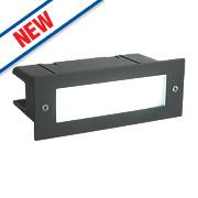 Saxby Seina Recessed LED Brick Light Black 4.5W