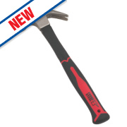 Forge Steel Fibreglass Shaft Claw Hammer 16oz (0.45kg)