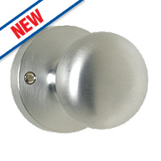 Carlisle Brass Mushroom Mortice Knob Pair Satin Chrome 52mm