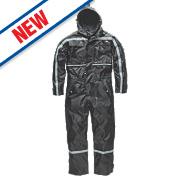 "Dickies Dartmouth Waterproof Coverall Black Medium 40-42"" Chest 30"" Leg"