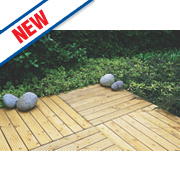 Forest Patio Deck Tile Kit Pack of 4