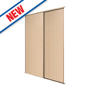 Spacepro 2 Door Panel Sliding Wardrobe Doors Maple 1195 x 2260mm