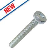 Easyfix Bright Zinc-Plated Pan Head Machine Screws M3 x 20mm 25 Pack