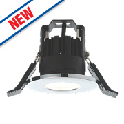 LAP Fire Rated Fixed Recessed LED Downlight IP65 Chrome 4.5W