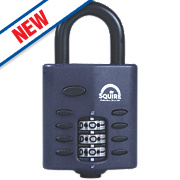 Squire Die-Cast Zinc All-Weather Combination Padlock Black 30mm