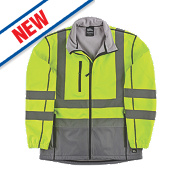 "Hyena Hi-Vis 2-Tone Soft Shell Jacket Yellow/Grey Medium 47"" Chest"