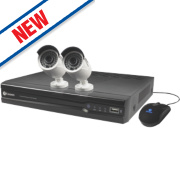 Swann NVR4-7082 4-Channel HD CCTV Network Video Recorder & 2 x HD Cameras