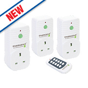 Energenie 13A Wireless Remote Control Sockets Pack of 3