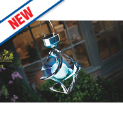 Cole & Bright Gardman Solar Wind-Spinner Light Stainless Steel