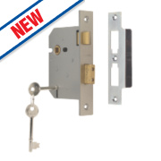 Union 3-Lever Sashlock Satin Chrome 3