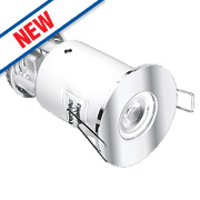 Aurora Fire Rated Fixed LED Downlight IP65 Polished Chrome 4.9W