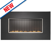 Focal Point Pinoir Black Rotary Control Gas Wall-Hung Flueless Fire